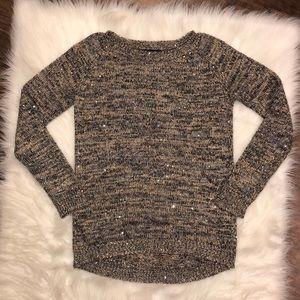 Relativity Metallic Accent Sweater | Medium